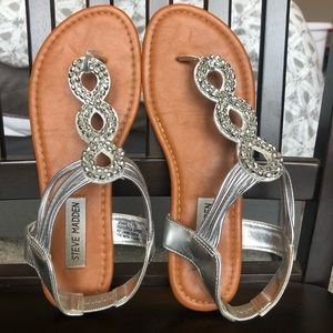 Steve Madden Silver Sandals Girls